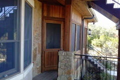 Custom Cedar Screen Door