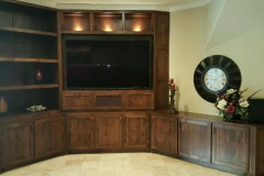 Finshed Custom Entertainment Cabinet