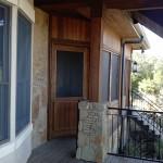 Cedar Screened Porch Doors