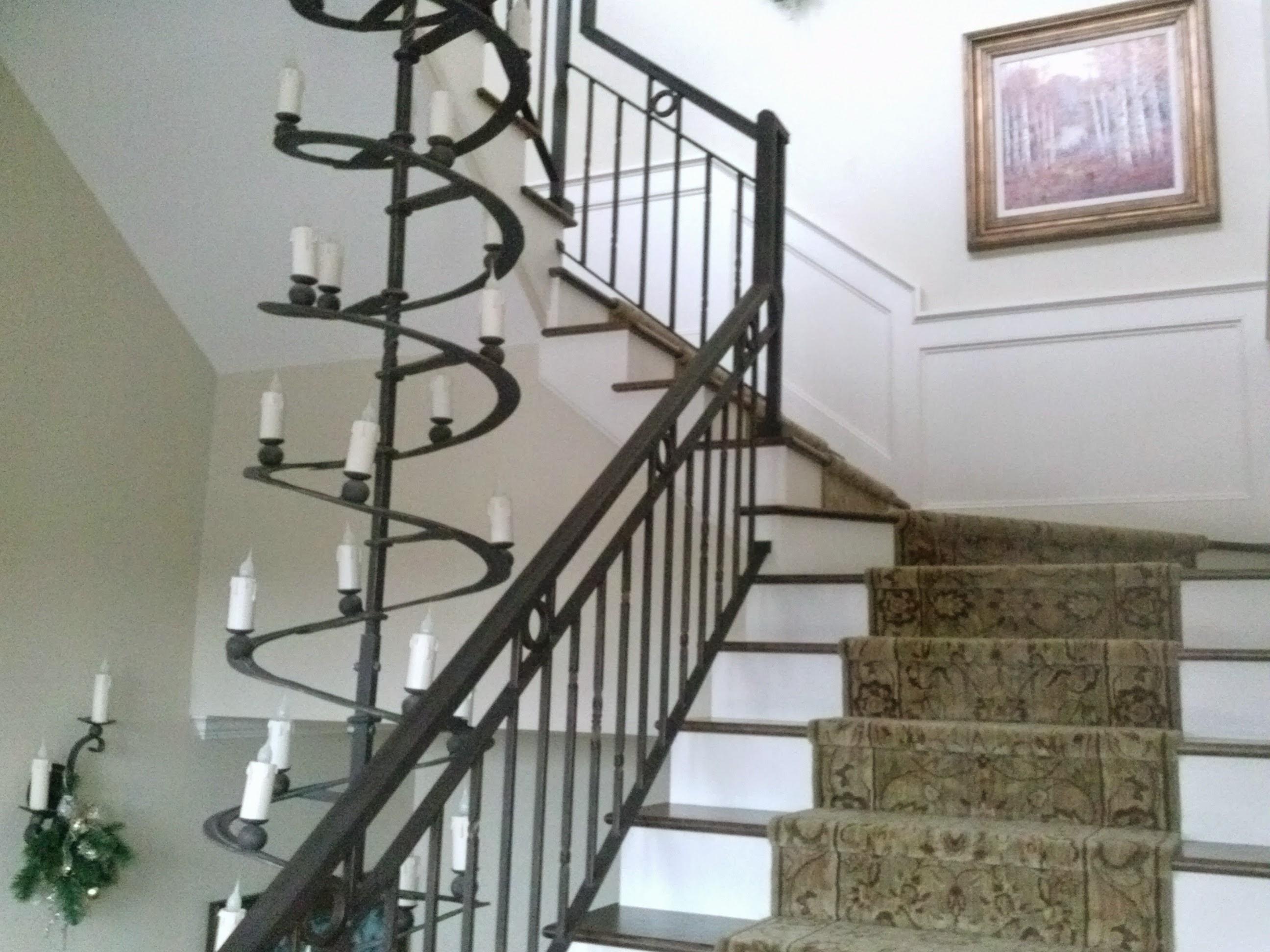 Custom Newel Post Staircase To Window Walk Way Specialty Millworks